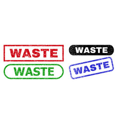 Waste rectangle watermarks with unclean texture vector