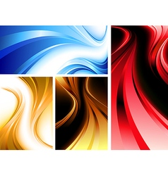 Wavy abstractions vector image