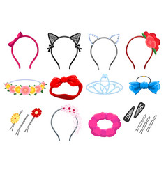 women hair accessories vector image
