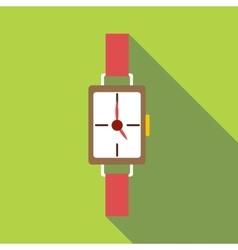 Wrist watch icon flat style vector