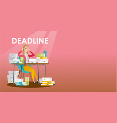 businessman has a problem with a deadline vector image