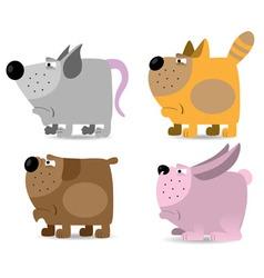 domestic animals set vector image vector image