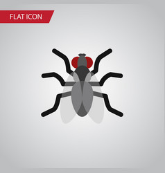 isolated mosquito flat icon gnat element vector image vector image