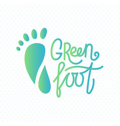 logo of center of eco foot vector image vector image