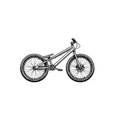 trial bike stock vector image vector image