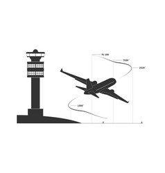aircraft on climbing phase vector image vector image