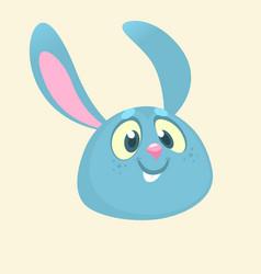 cartoon bunny rabbit head icon vector image vector image