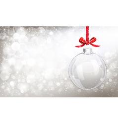 Christmas glass ball vector image vector image