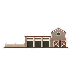 farm garage isolated image flat building vector image
