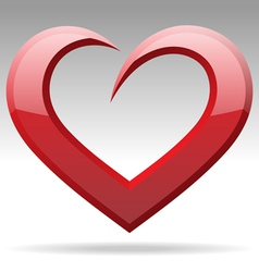 heart shape object vector image vector image