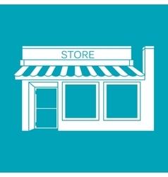 icon detailed Shop Market vector image vector image