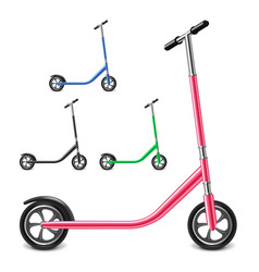 Kick scooter isolated on white vector