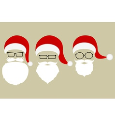 Set of patterns of Santa Claus vector image vector image