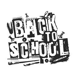 Slogan back to school grunge style vector