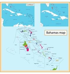 The Bahamas map vector image