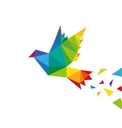 Bird abstract triangle design vector image vector image
