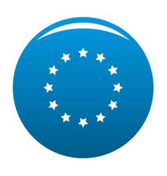 european union icon blue vector image