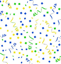 Flat party streamers seamless pattern vector