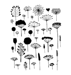 Floral collection sketch fro your design vector
