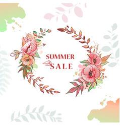 flower wreath sale vector image vector image