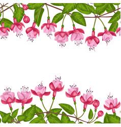 Fuchsia seamless double border vector
