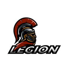 roman legionnaire logo vector image