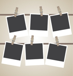 Vintage photo frame design element vector