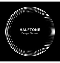 White Abstract Halftone Circle Logo Design Element vector image