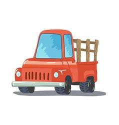 Colorful Cartoon Retro Pickup Truck vector image vector image