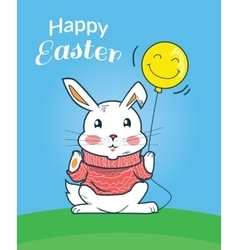 Happy Easter Bunny Design Flat vector image vector image