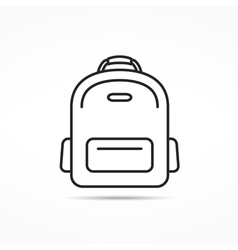 School Bag Line Icon vector image