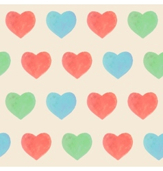 Seamless marker heart pattern vector image vector image