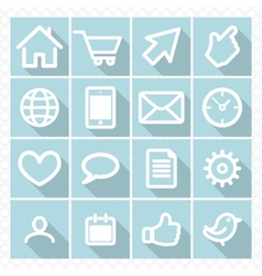 set icons with shadow vector image vector image