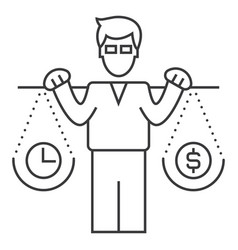 smart investment line icon sign vector image vector image