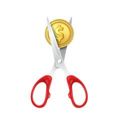 3d realistic golden metal dollar vector image