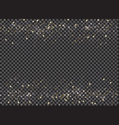 Abstract bokeh and gold glitter header footers on vector