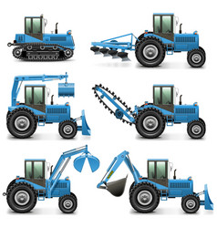 Agricultural Tractor Set 1 vector