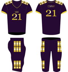 American football jerseyt-shirt sport design vector