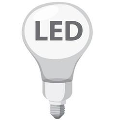 an led light bulb vector image