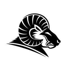Angry ram animal icon vector