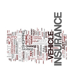 Auto insurance text background word cloud concept vector
