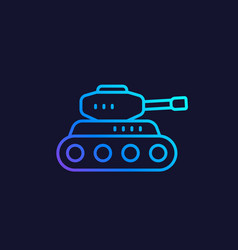 battle tank line icon vector image