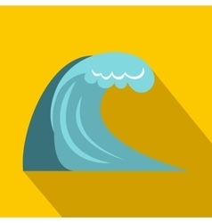 Big wave icon flat style vector