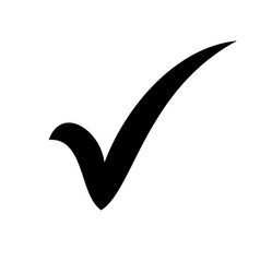 Black check mark icon tick symbol in black color vector