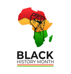 black history month banner vector image