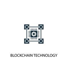 blockchain technology icon simple element vector image