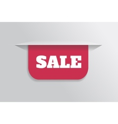 Bookmark sticker label tag with text sale vector