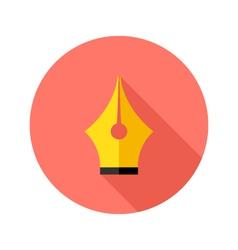 Brush Pen Flat Circle Icon vector