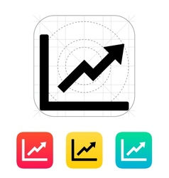 Chart up icon vector