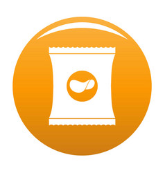 chips icon orange vector image